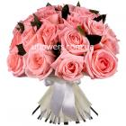 """Букет """"Розовые розы 21 шт."""""""